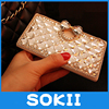 3D Lovely Bling Crystal Diamonds bow PU leather wallet case cover for LG K10 F670 K410 K420N Luxury fashion phone cases