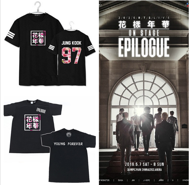 9817e6b375d67 Kpop moda niños BTS álbum bangtan mismo letras impresión camiseta verano  k-pop fans o cuello corto camisa de manga