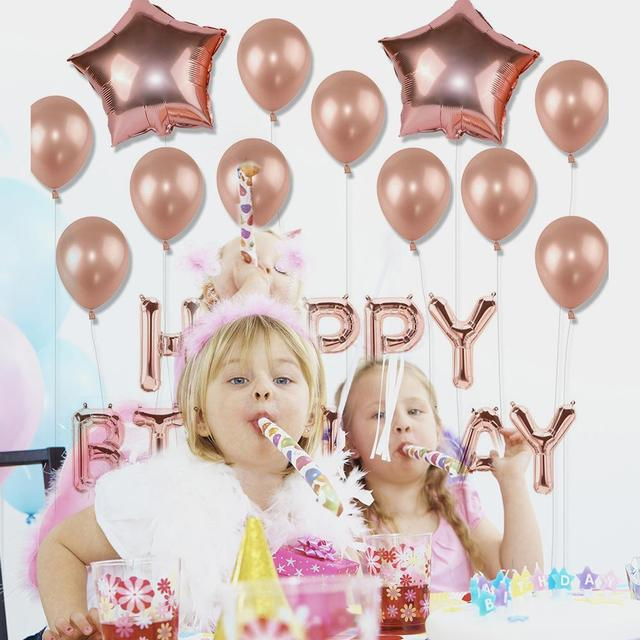 Free Shipping Rose Gold Birthday Party Balloon Decoration Set 30th Happy