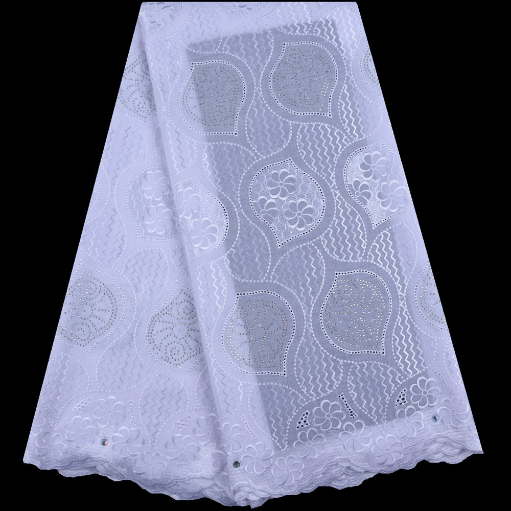 Top Sales Swiss Cotton Lace Fabric Pure White Swiss Voile Lace In Switzerland High Quality African