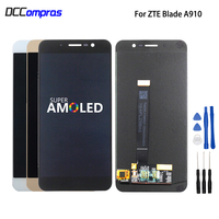 Original For ZTE Blade A910 BA910 LCD Display Touch Screen Phone Parts For ZTE Blade A910 Screen LCD Display Amoled Free Tools