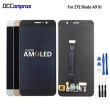 Original para zte lâmina a910 ba910 display lcd tela de toque peças do telefone para zte lâmina a910 tela lcd amoled ferramentas gratuitas