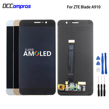 מקורי לzte להב A910 BA910 LCD תצוגת מסך מגע טלפון חלקי לzte להב A910 מסך LCD תצוגת Amoled משלוח כלים