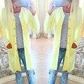 Женщины Весна Лето Верхняя Одежда Элегантный Офис Дамы Конфеты Цвет Однобортный Кардиган Плюс Размер Случайного Пальто