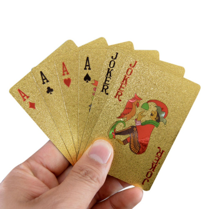 Balight Sport Unlimited Gold foil poker 24K gold poker custom advertising factory direct waterproof wholesale