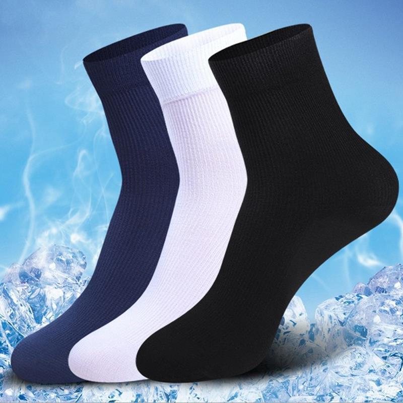 New Wholesales 10 Pair Man Boys Short Bamboo Fiber Sock Stockings Middle Socks