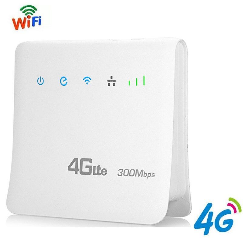 4g LTE CPE Wifi Router Mobile Hotspot Wireless A Banda Larga Ripetitore 300 Mbps Router Sbloccato con Porta LAN Supporto AT & T SIM card