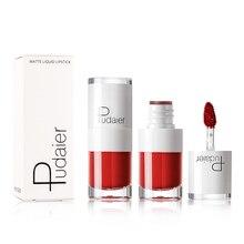 Купить с кэшбэком Pudaier 1PC 16 Colors Matte Lip Gloss Waterproof  Makeup Red Velvet Lip Tint Long Lasting Lipgloss Tubes Liquid Lipsticks