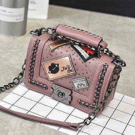 Vintage diamond Shoulder Bags lattice handbags hotsale celular Mid borse tote bag For Women Ladies With Chain fake designer bag