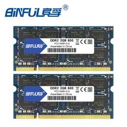 Binful 4GB (2x2 GB) DDR2 PC2-5300 667mhz PC2-6400 800mhz 4GB (عدة من 2,2X2GB لقناة مزدوجة) ذاكرة عشوائية Ram كمبيوتر محمول