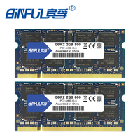 DDR2 800Mhz 4GB Kit Of 2 2X 2GB PC2 6400 KVR800D2S6 2G Brand New SODIMM Memory