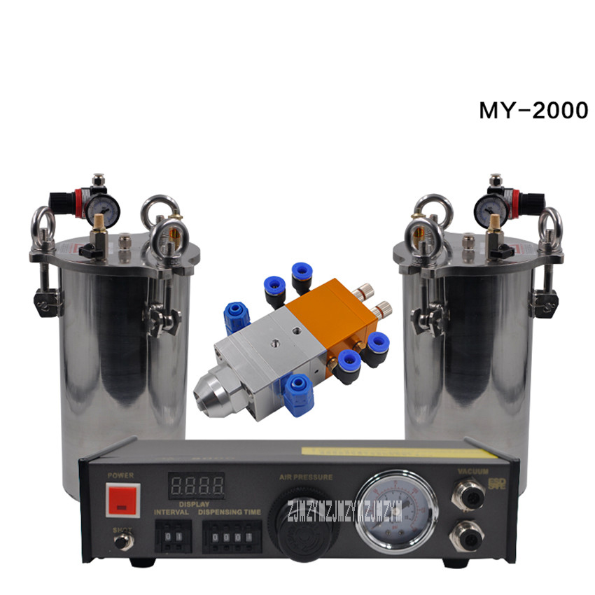 New Arrival MY-2000 AB Glue Dispenser Equipment Accurate Automatic Glue Dispensing Machine With 2pcs 2L Pressure Tanks Hot Sale new arrival original ac 7813km 25 1 2mm 50m glue tape for pressure cable machine