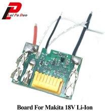 Placa de circuito pcb substituir para makita 18v bl1830 bl1845 bl1860 bl1815 lxt400 3.0ah 6a proteção de carregamento da bateria de lítio chip