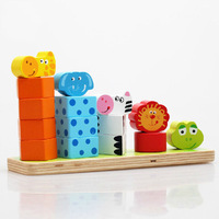 Animal buttressed music wooden set column sets of tower buttressed high child blocks 5 plate paragraph