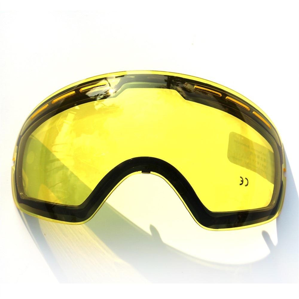 COPOZZ marque ski lunettes 2 couche lentille anti-brouillard UV400 jour et nuit sphérique lunettes de snowboard hommes femmes ski neige lunettes Set - 4