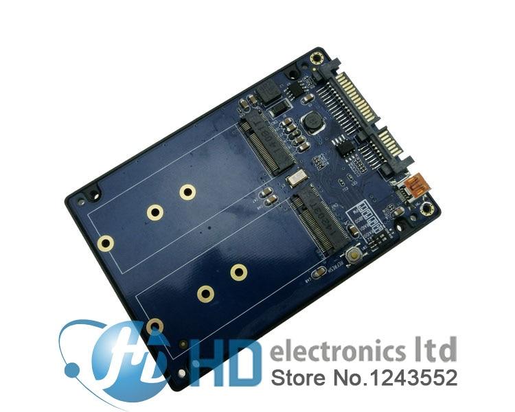 Free shipping Double NGFF  SATA3.0 adapter SSDs riser M.2 2 ngff raid0 raid1 to usb3.0 enclosure dual msata raid to 22pin sata adapter 2 5 inch sata 3 0 enclosure usb3 0 to 2 msata sata 3 raid 0 1 free shipping