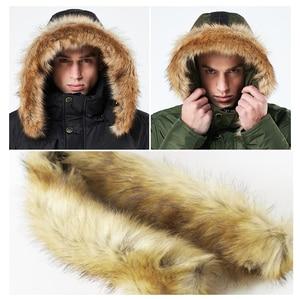 Image 5 - Mwxsd chaqueta y Abrigo con capucha de invierno para hombre, parkas de piel gruesa con cremallera militar, abrigo cálido