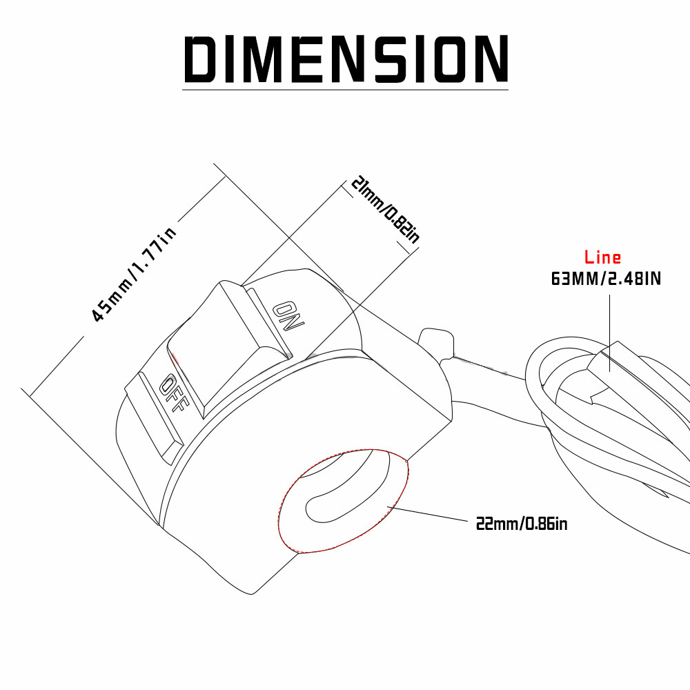 Motorcycle Handlebar Switch On Off Button 12v Headlamp For Sv 650 Key Wiring Diagram Suzuki Sv650 Sv650s Aprilia Pegaso Tl1000s In Switches From Automobiles