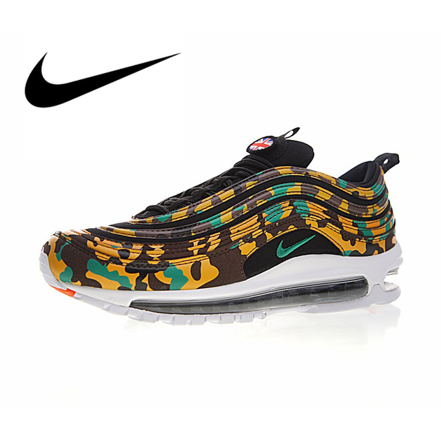 buy popular 12c21 fd70b Nike Air Max 97 Japan Yellow-Green Camo Men s Breathable Running Shoes  Sport Sneakers Athletic