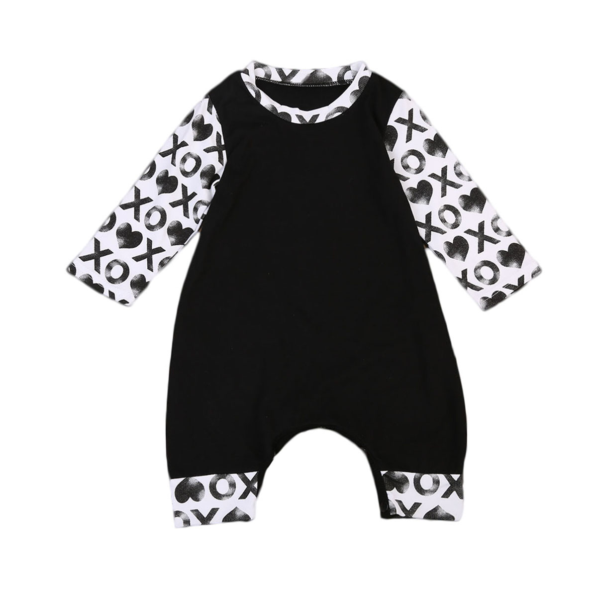 Newborn Kids Baby Boys Cotton Clothes Autumn Warm Jumpsuit Romper Long Sleeve Sunsuit Body Clothing spring autumn newborn baby rompers cartoon infant kids boys girls warm clothing romper jumpsuit cotton long sleeve clothes