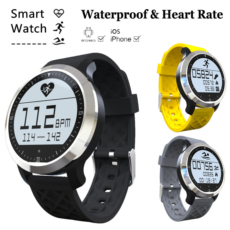 Bluetooth font b smartwatch b font Sport Swimming Waterproof Dial Call Smart watch Heart Rate Monitor
