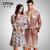 XIFENNI Casal Roupões Qualidade Superior Imitação De Seda Mulheres Robe Longo-Sleeved Vestes Masculinas Amantes Sleepwear Frete Grátis