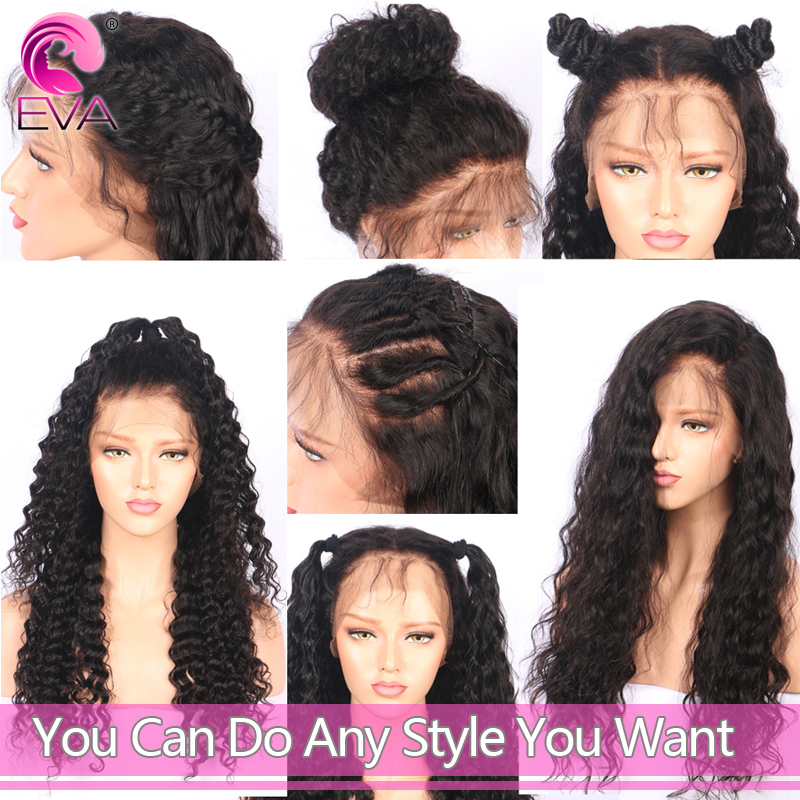 Lace Front Human Hair Wigs Pre Plucked Hairline Curly Brazilian Remy Hair Lace Front Wigs With Baby Hair Bleached Knots Eva Hair