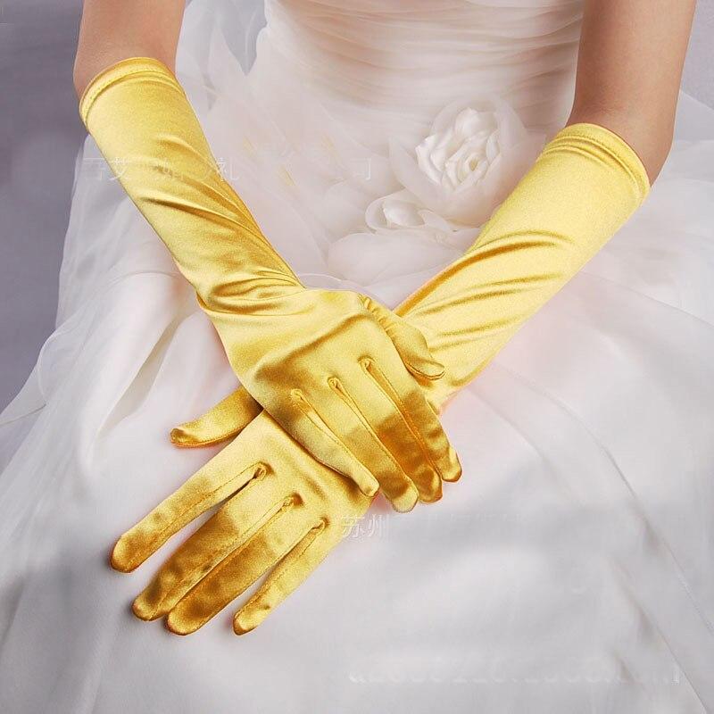Fashion Short Gloves Satin Opera Wedding Bridal Evening Party Prom Costume Glove