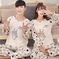 2017 новый милый мультфильм пару моделей Waichuan увеличение внутреннего швейных Pyjamasets