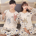 2017 nuevo linda pareja de dibujos animados modelos Waichuan aumentar ropa doméstica Pyjamasets