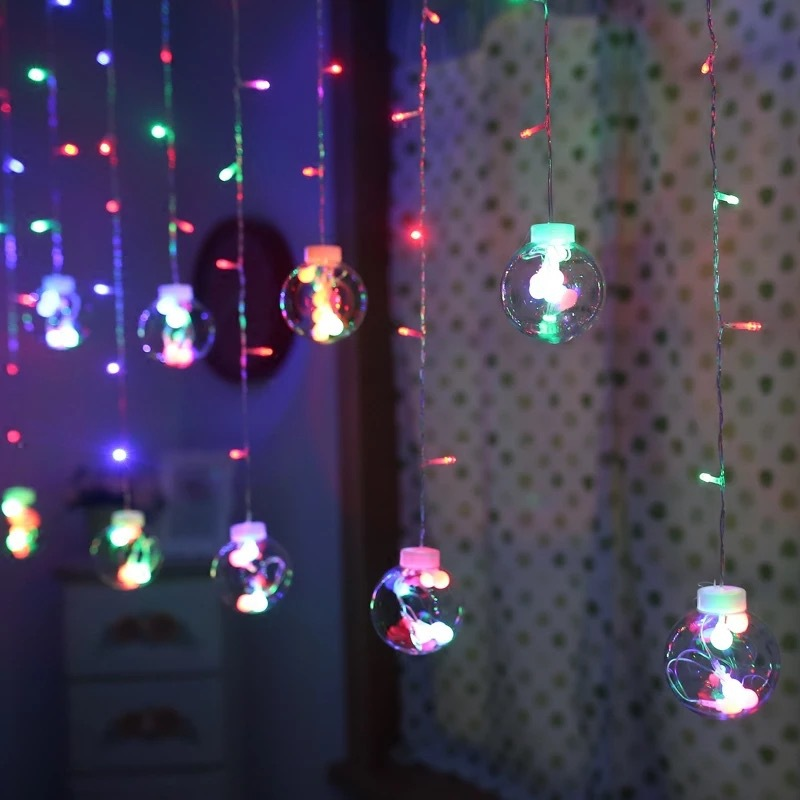 Fairy String Lights 2.5M 138LED 220V 5 Color Waterfall Lighting 8 Modes LED Holiday LED Curtain christmas lights outdoor стоимость
