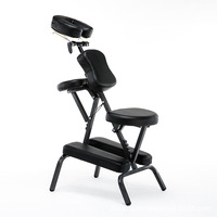 LK38 Morden Portable Leather Pad Massage Chair Folding Adjustable Tattoo Scraping Chair With Armrest High Quality