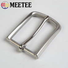 Meetee 1pcs 35mm Width Stainless Steel Brush Belt Buckle DIY Leather Craft Brushed Jeans Metal Clothing Accessories BD334