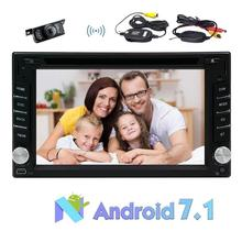 Free Wireless Backup Camera Multimedia Touch Screen 2 Din Car Stereo with Built-In Navigation, Bluetooth, CD/DVD Player & USB/SD