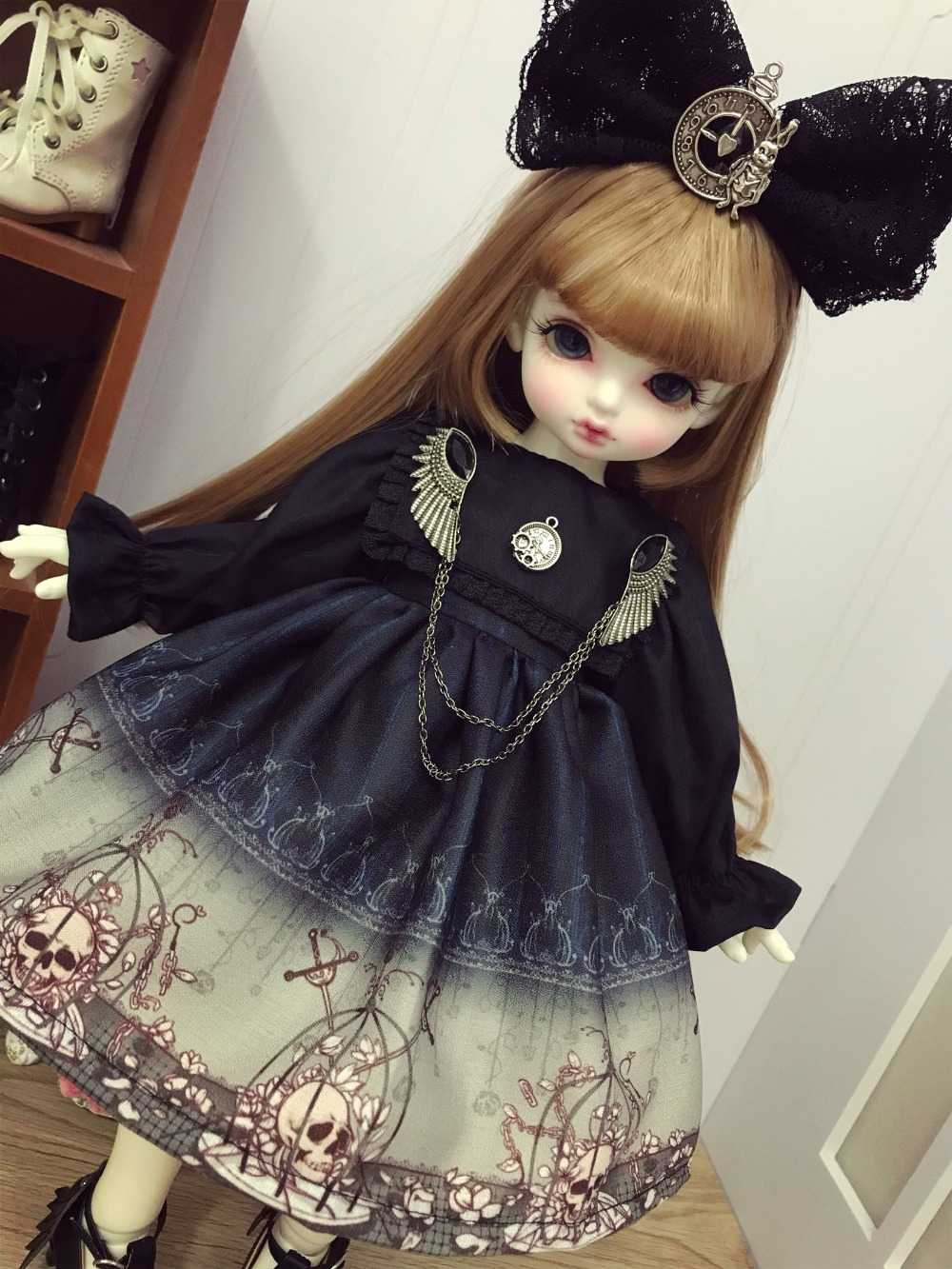 14 16 Slim Sd Bjd Doll Lolita Dress For 14 Msd Joint -7495