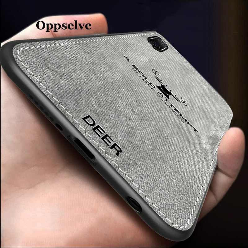 Чехол для iPhone X XR XS MAX Ultra Slim Canvas ткань с тиснением олень Capinhas для iPhone 8 7 6 6 S Plus мягкий TPU Coque Fundas