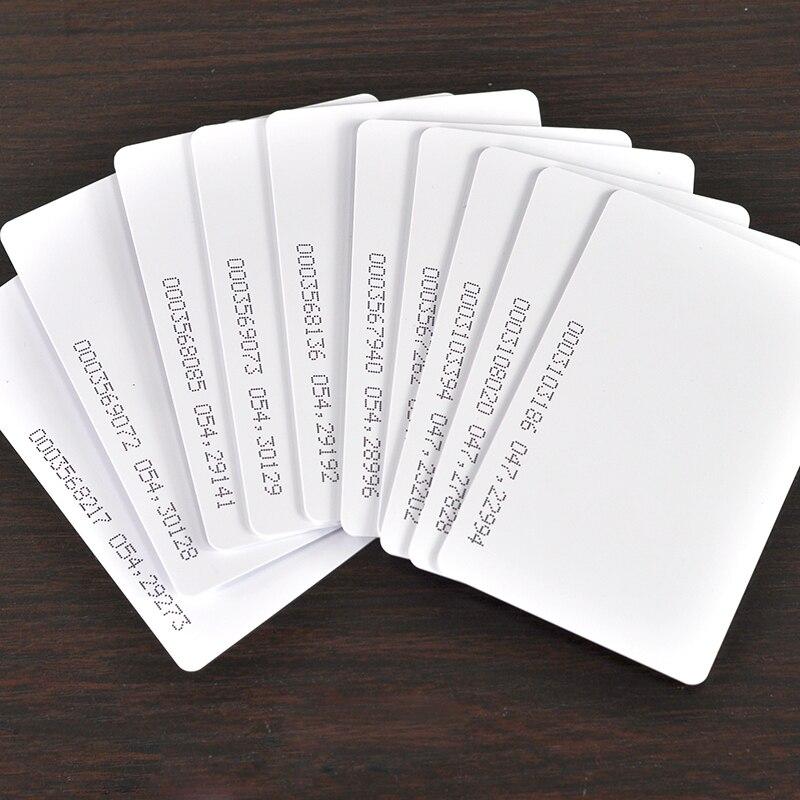 imágenes para Envío gratis 50 unids/lote 125 KHZ EM4100 tarjeta RFID EM TK4100 tarjeta de identificación ID reacción de tarjetas para asistencia de Control de acceso