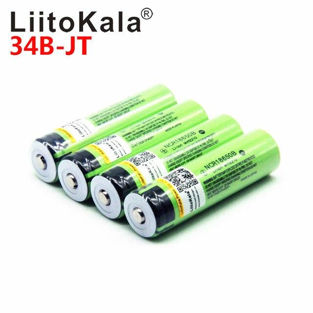 2019 LiitoKala 18650 3400 mAh Mới Ban Đầu NCR18650B 3000 3400 pin Sạc Li-ion cho cho Đèn Pin