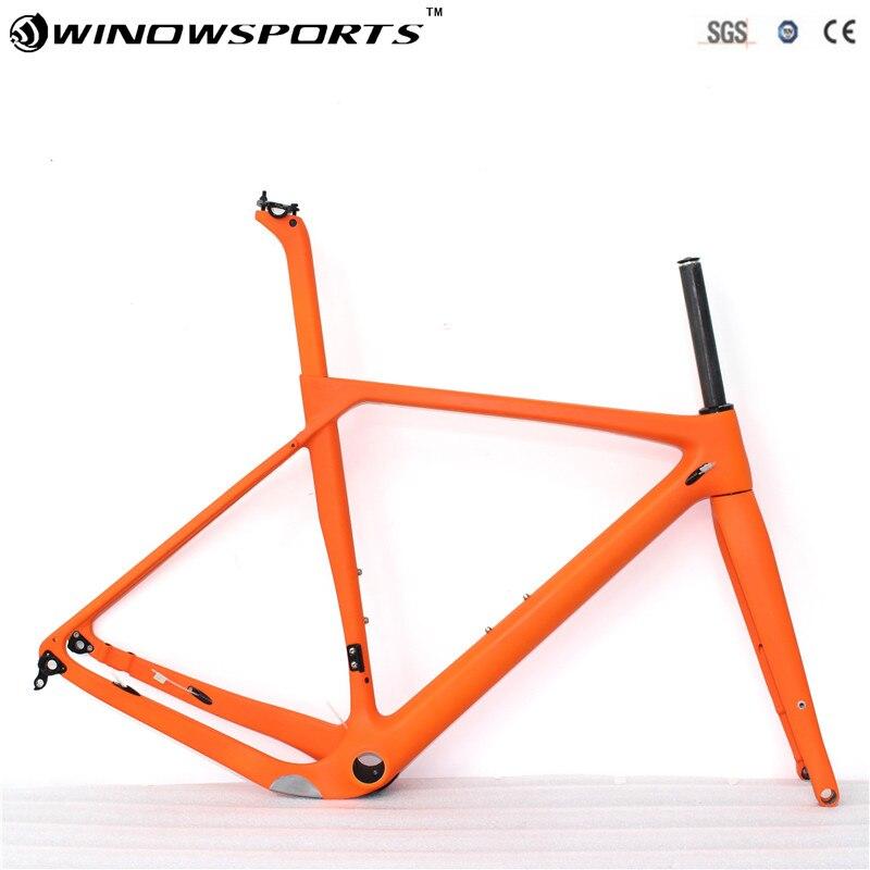 Quadro Da Bicicleta Com Freio A Disco De Carbono Quadro de Bicicleta de Estrada de cascalho Cascalho quadro Cyclocross Bicicleta Disco Quadro De Carbono através do eixo 142*12|Quadro da bicicleta| |  -