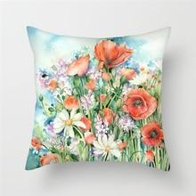 Fuwatacchi Flower Pattern Cushion Cover Vintage Flowers Printed Pillowcase Waist Throw Pillows Home Decor Case Almofadas