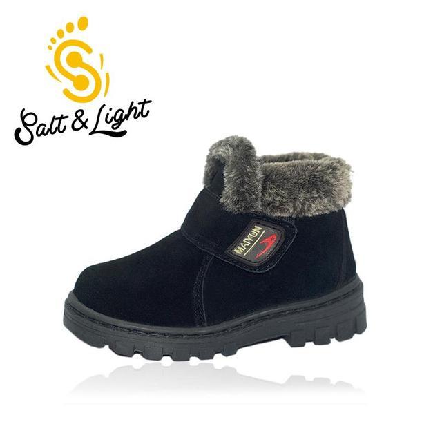 2016 новых детей кожаные ботинки мальчиков девочек мода высокого качества Мартин сапоги нескользящей согреться обувь для детей