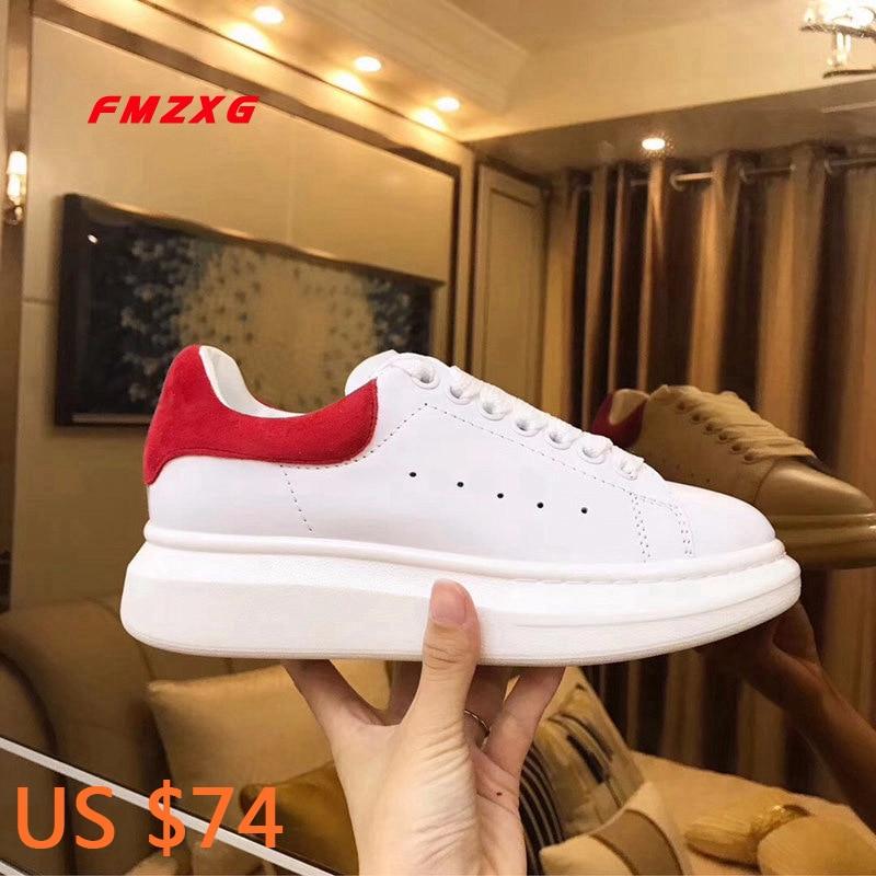 FMZXG women platform shoes fashion Genuine Leather Spring Autumn designers shoes woman luxury brand 2018 Flats