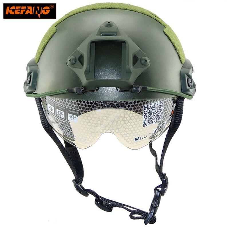 Военная Униформа тактический airsoft шлем с защитным Goggle Спорт на открытом воздухе Приключения голове Пейнтбол Шестерни