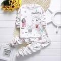 Весна нового ребенка Устанавливает хлопок Одежда для Новорожденных с Длинными рукавами Наборы хлопка младенца из двух частей (рубашка + брюки) детские baby girl Наборы