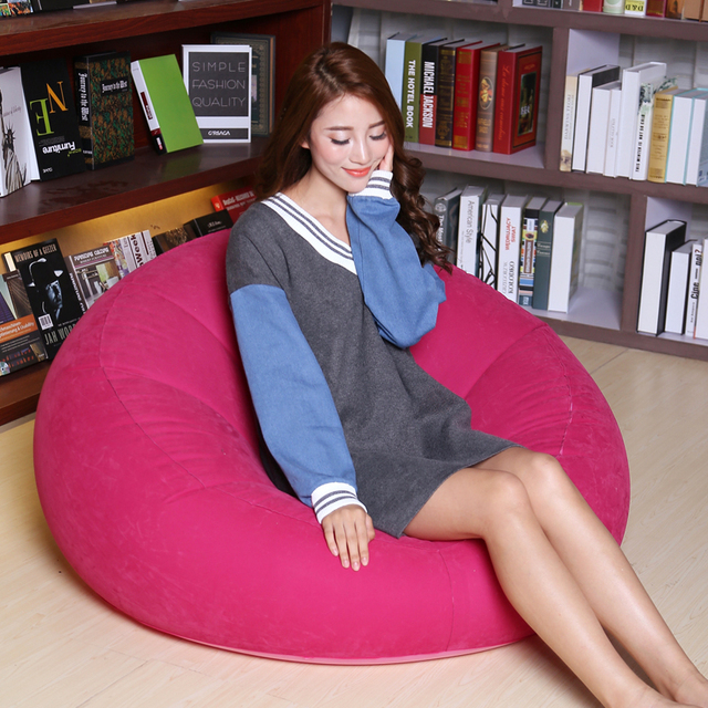 New Sofa lazy inflatable sofa Single lazy nap bedroom small sofa chairs sitting room sofa couch