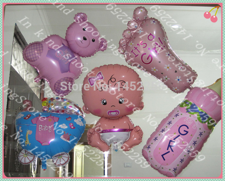 XXPWJ The new 5pcs / lot aluminum film balloon toy for children party suit girl