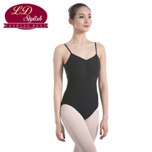 Women Black Training Leotards Competition Dance Skirt Stage Performance Female Gymnastic Dancewear Adults Practice Clothing
