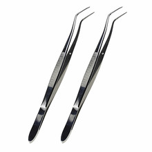 2 Pcs High Quality Dental Products Stainless Steel Oral Hygiene Tweezers Forceps Dentist Instrument Tools