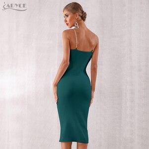 Image 3 - Женское облегающее платье Adyce, Клубное платье на тонких бретельках, вечерние платья знаменитостей, лето 2020