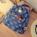 Mara's Dream Women Backpack Summer Hot Sale  Denim Material High Quality Broken Hole Backpacks For Women Trendy Style